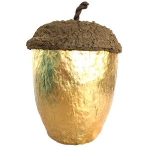Acorn Design Biodegradable Cremation Ashes Urn - HARVEST GOLD