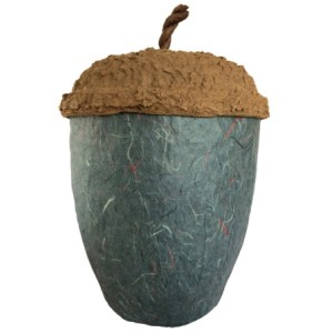 Acorn Design Biodegradable Cremation Ashes Urn – STONE