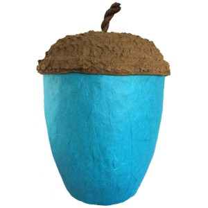 Acorn Design Biodegradable Cremation Ashes Urn – TURQUOISE BLUE