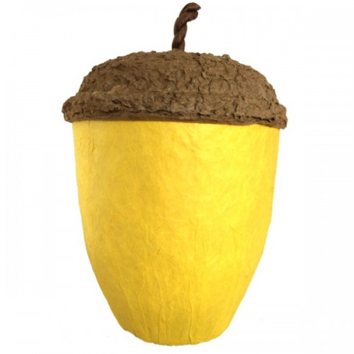 Acorn Design Biodegradable Cremation Ashes Urn - SUNFLOWER YELLOW
