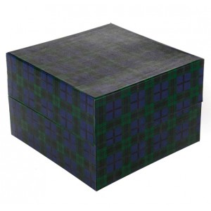 Biodegradable Cremation Ashes Urn / Casket (2 Adults - Companion) - SERENITY TARTAN (Blue)