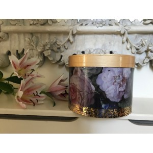 Autumn Gold Gardeners World Cremation Ashes Urn - Beautiful Floral Design / Contrasting Gold Lid