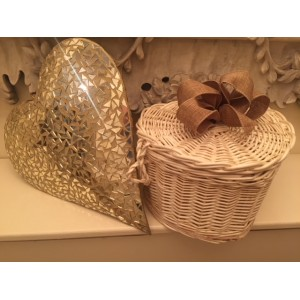 Autumn Gold Heart Shape Cremation Ashes Casket - ETERNAL BOW COLLECTION (SERENITY GOLD)