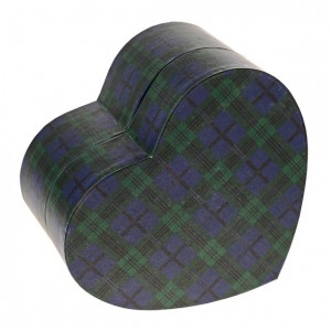 Biodegradable Cremation Ashes Urn (Forever in our Hearts) – TARTAN (BLUE)