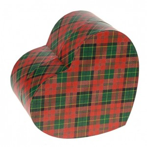Biodegradable Cremation Ashes Urn (Forever in our Hearts) – TARTAN (RED)