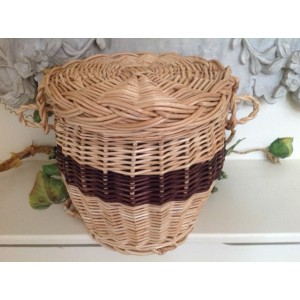 Autumn Gold Light Wicker & Chestnut (Oval Shape) Cremation Ashes Casket - Natural Woven Products