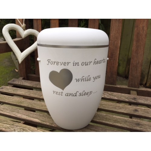 Biodegradable Cremation Ashes Funeral Urn – FOREVER IN OUR HEARTS**Sold Out**