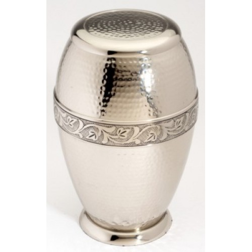 "Large Brass Urn 10"" (Ascot Nickel Adult UU100001A 290 CI)"
