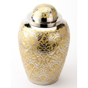 "Large Brass Urn 10"" (Devon Gold UU100005C 205 CI)"