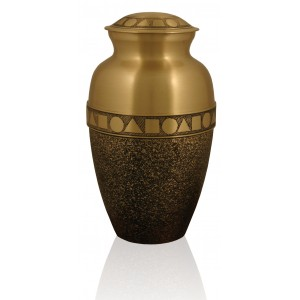 The Geometric Brass Urn - FREE ENGRAVING