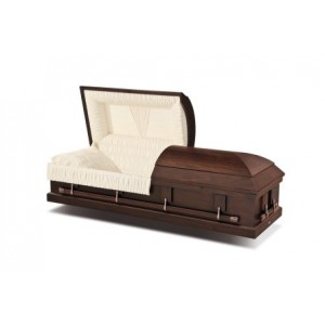 Harvest Brown Mahogany Casket. Buy Direct and Make The Savings
