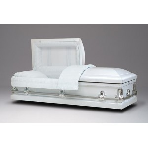 Alpine White Casket – Beautiful American Caskets with Huge Savings