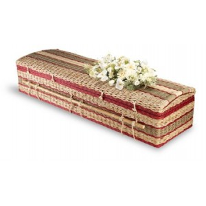 Premium Banana Imperial (Cerise) Casket. Please call for best prices