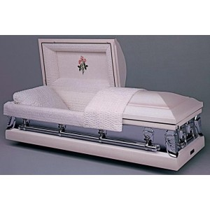 Carnation Mist Two Tone Casket. Huge Savings, Elegant Quality.