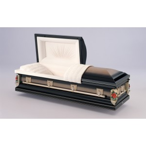 Midnight Rose (18 Gauge Steel) American Style Casket. - Premium Quality - Massive Savings