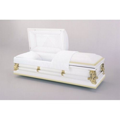 Ivory Gold (20 Guage Steel) Premium American Casket - Delivering the Highest Quality