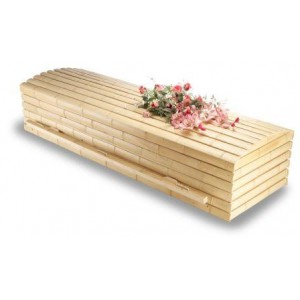 Premium Bamboo & Pine Sovereign Casket. NATURAL ECO COFFINS. Call for price