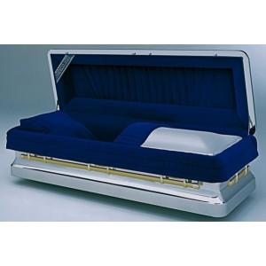 Chronis Premium Stainless Steel American Style Metal Casket (Prestige Range) with optional 24 Karat Gold Package