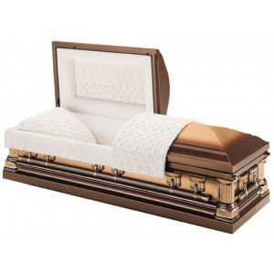 Copper 32oz Imperial Casket / Champagne Velvet Interior - **SOLD OUT**