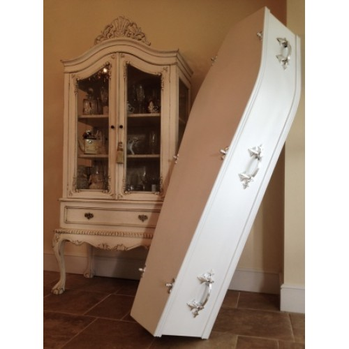 Traditional White Coffin - Colourful Coffin