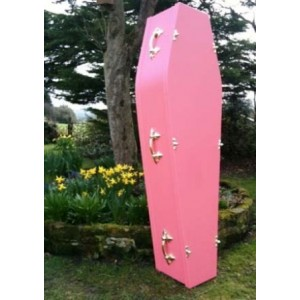 Traditional Pink Coffin - Colourful Coffins
