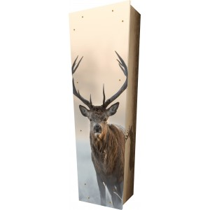 Seek Natures Peace (Deer) - Personalised Picture Coffin with Customised Design - Call for prices.