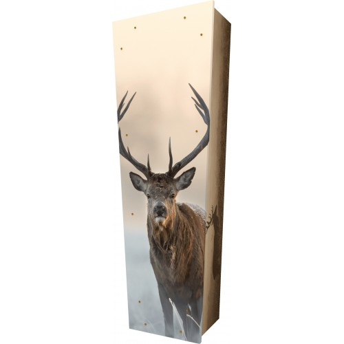 Seek Natures Peace (Deer) - Personalised Picture Coffin with Customised Design.