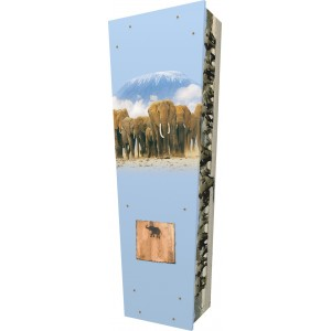 Elephant - Personalised Picture Coffin with Customised Design.