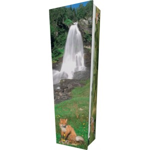 Fox - Personalised Picture Coffin with Customised Design.