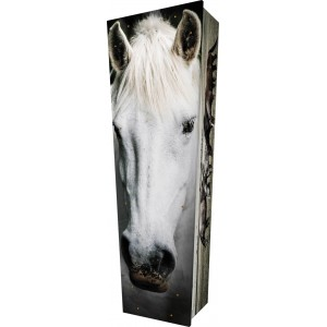 Horse - Personalised Picture Coffin with Customised Design.
