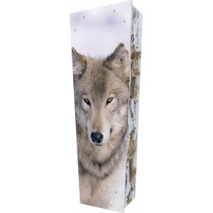 Wolf - Personalised Picture Coffin with Customised Design - Call for prices.