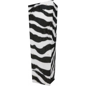 Wild Side (Zebra) - Personalised Picture Coffin with Customised Design - Call for prices.
