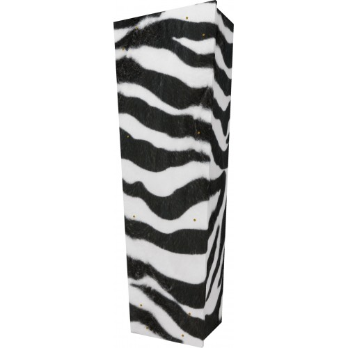 Wild Side (Zebra) - Personalised Picture Coffin with Customised Design.