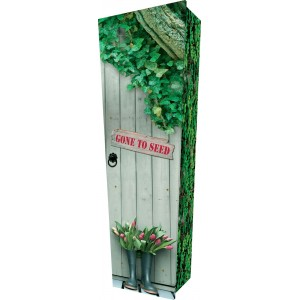 Gone to Seed - Personalised Picture Coffin with Customised Design.