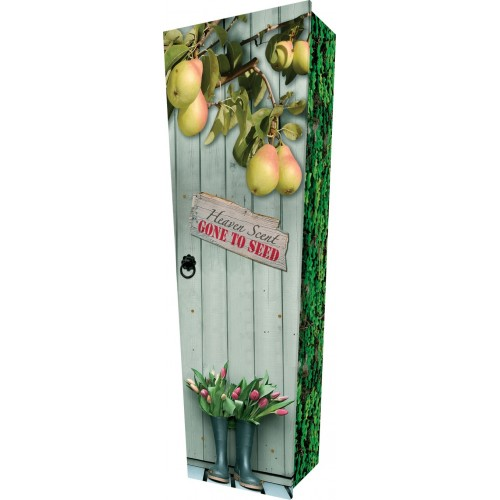 Fruit Garden (Pear Tree) - Personalised Picture Coffin with Customised Design.