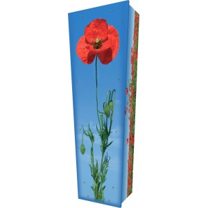 Poppy to Remember - Personalised Picture Coffin with Customised Design.