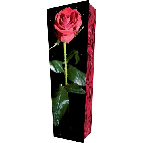 Loving Rose - Personalised Picture Coffin with Customised Design.