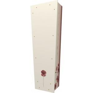 Forever in Our Hearts (Poppy) - Personalised Picture Coffin with Customised Design.