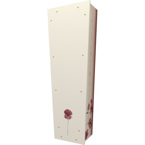 Forever in Our Hearts (Poppy) - Personalised Picture Coffin with Customised Design - Call for prices.