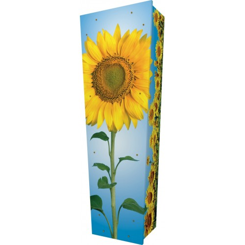 The Sunflower - Personalised Picture Coffin with Customised Design - Call for prices.