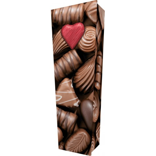 Cocoa Heaven (Chocolate) - Personalised Picture Coffin with Customised Design - Call for prices.