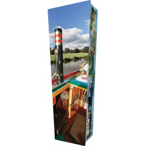 Canal Boat - Personalised Picture Coffin with Customised Design.