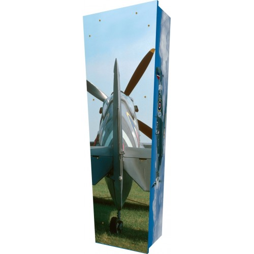 Spitfire Dawn - Personalised Picture Coffin with Customised Design - Call for prices.