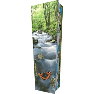 Butterfly Spirit - Personalised Picture Coffin with Customised Design - Call for prices.