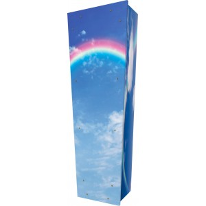 Beauty of a Rainbow - Personalised Picture Coffin with Customised Design - Call for prices.