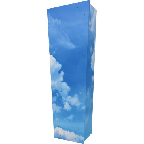 Mr Blue Sky - Personalised Picture Coffin with Customised Design.