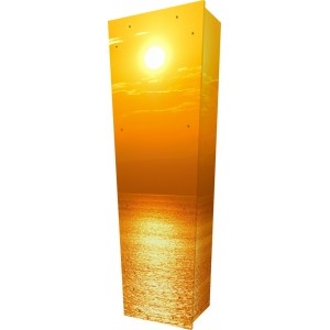 Seadream Sunset - Personalised Picture Coffin with Customised Design.