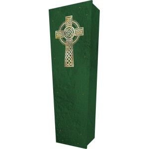 Celtic Cross - Personalised Picture Coffin with Customised Design - Call for prices.