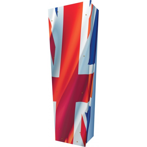Union Jack - Personalised Picture Coffin with Customised Design - Call for prices.