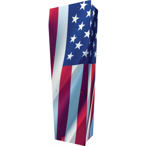 USA / America - Personalised Picture Coffin with Customised Design.